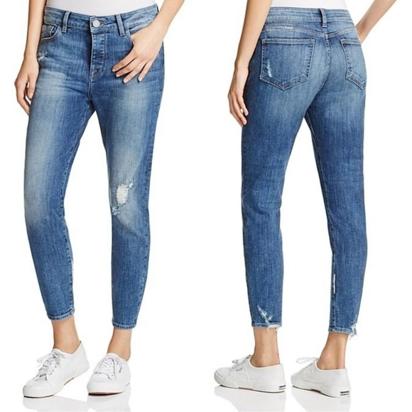 DL1961 Denim - No. 6 Ripped Slouchy Skinny Scratched Wash Jean